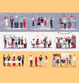 corporate parties set vector image