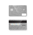 credit card photorealistic bank card isolated on vector image vector image