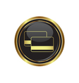 credit cards icon button gold copy vector image