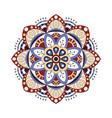 decorative ethnic mandala outline isolates vector image