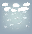 discounts snowflakes winter sale background vector image