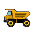 dump truck flat icon colorful silhouette vector image