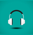 Earphone sign vector image vector image