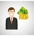 finance money economy dollar business vector image