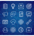 Flat icon set of SEO symbols vector image vector image