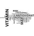 free radicals the enemy within text background vector image vector image