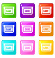 game cartridge icons 9 set vector image