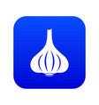 garlic icon digital blue vector image