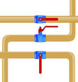 Gas pipes vector image vector image