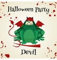 Halloween green toads fashion costume outfits vector image vector image