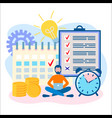 he concept of time management deadline vector image vector image