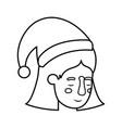 head of woman sleeping avatar character vector image vector image
