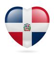 Heart icon of Dominican Republic vector image vector image