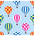 hot air balloons in sky vector image vector image