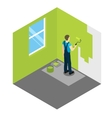 House Painter Isometric Design vector image