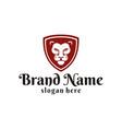 lion logo design inspiration vector image
