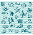 marine life set vector image vector image