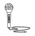modern microphone technology vector image vector image