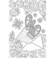 new year and christmas theme black and white vector image vector image