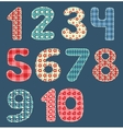 Numbers patchwork set vector image vector image