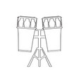 pair of drums icon musical instrument vector image vector image