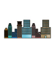 panorama picture of city skyline architecture vector image vector image