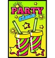 Party Time Comic Style Poster vector image vector image