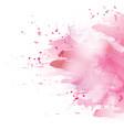 pink splash vector image vector image