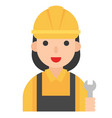 plumber icon profession and job vector image vector image