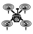 quadcopter icon simple style vector image vector image