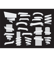 ribbon banners grayscale dark vector image vector image