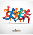 running people set of stylized icons and vector image vector image