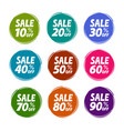 sale label set business shop mall concept vector image