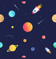 seamless adventure space pattern with rockets vector image vector image