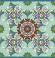seamless pattern with leaves decorative floral vector image
