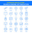 search engine optimization icons - futuro blue 25 vector image