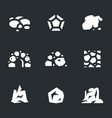 set of stone icons vector image