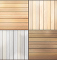 Set of wood plank backgrounds vector image
