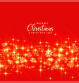 shiny golden christmas sparkles on red background vector image vector image