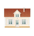 small cute residential house vector image vector image