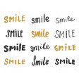 smile letterings handwritten signs set hand drawn vector image vector image