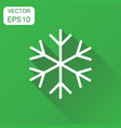 snowflake icon business concept winter snowfall vector image