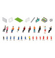 soccer icons set sport game isometric view vector image vector image