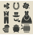 St Patricks Day symbols set vector image
