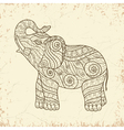 Stylized elephant in a graphic style Zentangle vector image vector image