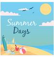 summer days beach sky and sun background im vector image