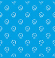 tennis ball pattern seamless blue vector image vector image