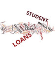 The dangers of defaulted student loans text