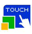 touch symbol vector image vector image
