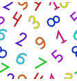 unambiguous multi-colored numbers vector image vector image